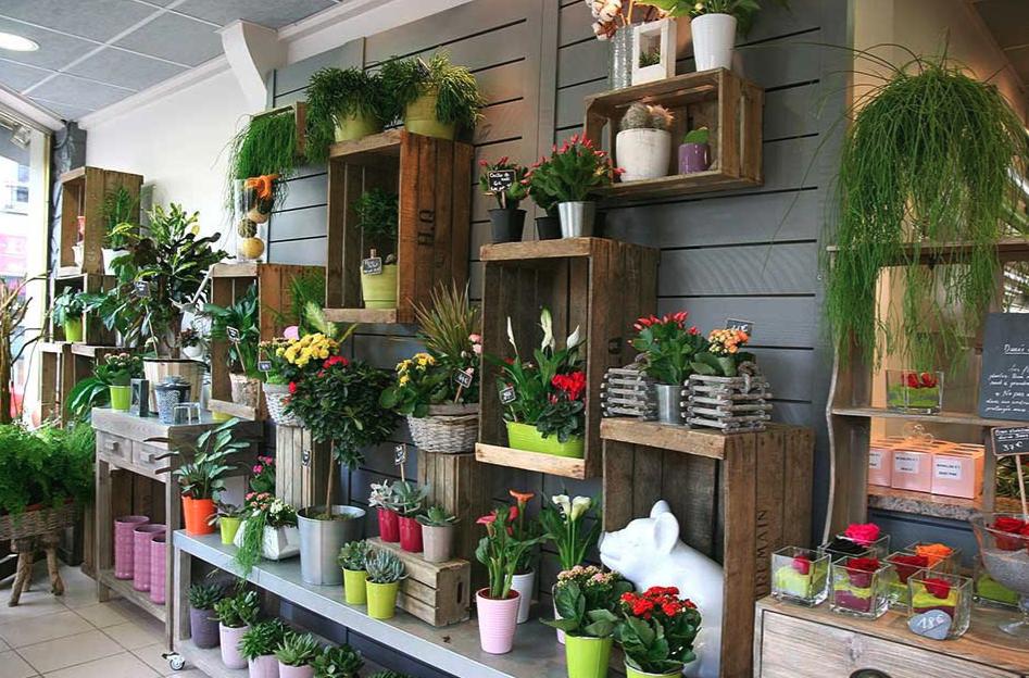 photo de l'intérieur de la boutique florale de sartrouville melange fleurie